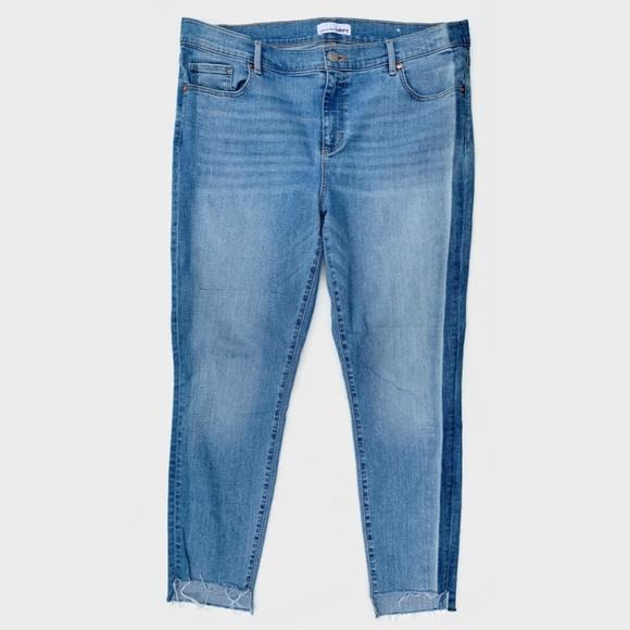 LOFT Denim - LOFT Modern Skinny Jeans Step Fray Hems 14